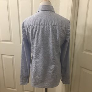 New York & Company Tops - New York & Company stretch button down striped top